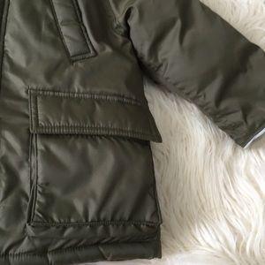 GAP Jackets & Coats - Baby GAP Military Green Down Coat 18- 24M